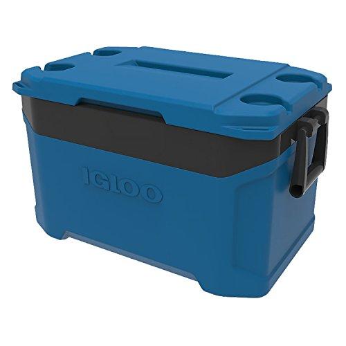 Igloo Blue (Igloo Latitude 50 Quart Cooler - Fiesta Blue/Obsidian Gray)