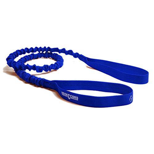 hook and cord Extra Long Dock Tie Bungee, 5 Feet Long Stretches to 8 Feet Made in USA (Blue, 5 Foot)