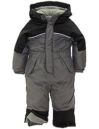 iXtreme Little Boys' Snowmobile 1-Piece Winter Snowsuit Ski Suit Snowboarding, Charcoal, 4