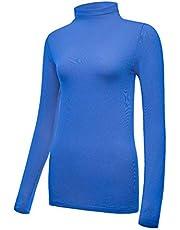 Bulouin Women's Ultra Warm Soft Lightweight Thermal Underwear Shirt Long Sleeve Coldpruf Compression Baselayer Crew Neck Top