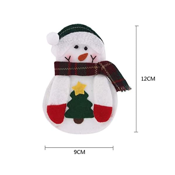 Portaposate Costume da Babbo Natale, Natale, decorazione per tavolo (8pcs) 3 spesavip