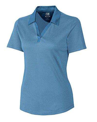 Drytec Birdseye Golf Polo (Cutter & Buck Women's Drytec Birdseye Polo XXX-Large Sea Blue)
