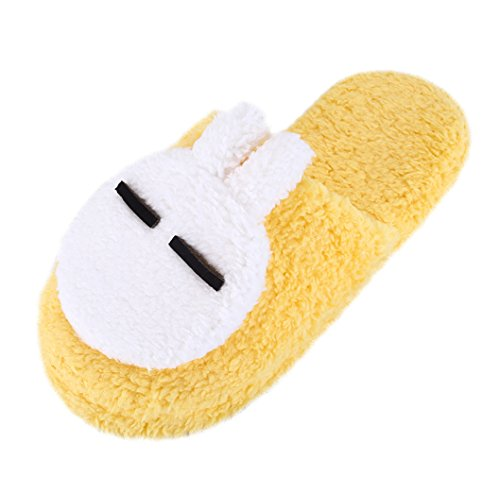 Urban CoCo Womens Cozy Fleece Plush House Slipper Yellow hLj5A4ttZ