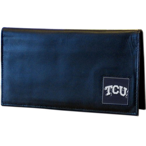 NCAA TCU Horned Frogs Leather Checkbook Cover