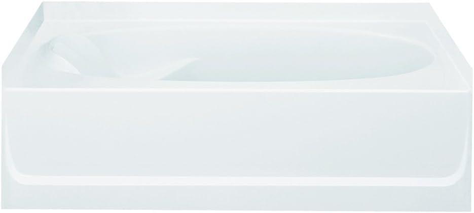 STERLING 71101122-0 Ensemble Bathtub, 60-Inch x 36-Inch x 18.25-Inch, Right-Hand, White