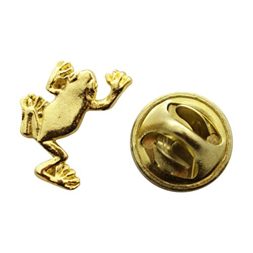 - Sarah's Treats & Treasures Tree Frog Mini Pin ~ 24K Gold ~ Miniature Lapel Pin