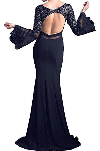 Meerjungfrau 2018 Abendkleider Braut Neu Brautmutterkleider Partykleider Rot Trumpet La Marie Langarm XFpwRq