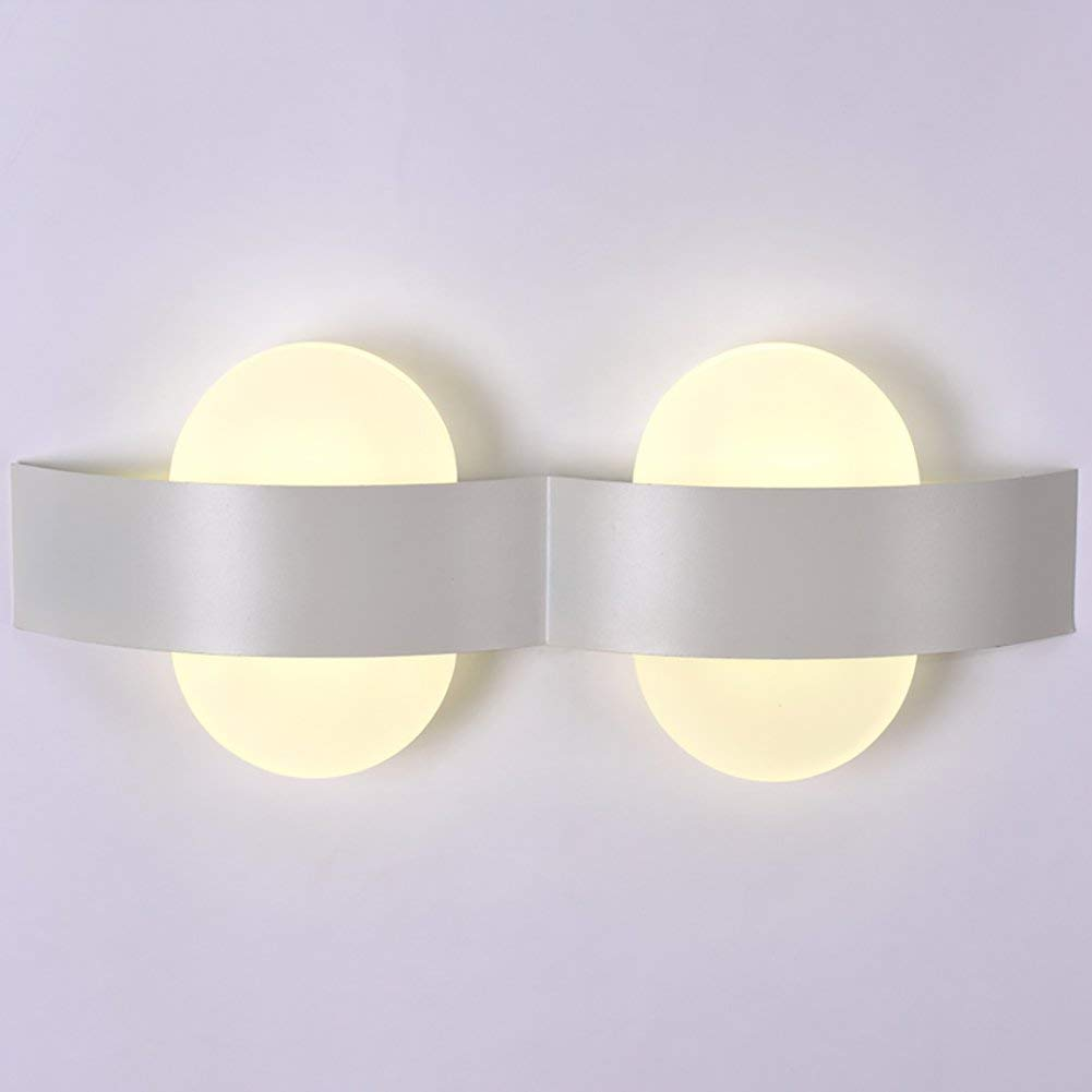 Chuiqingwang *ウォールライトウォールランプシンプルなベッドサイドランプクリエイティブリビングルーム装飾ライト通路ダブルヘッドライトledウォールライト、ホワイトウォールランプ (サイズ : 38*16cm) B07S68BY74  38*16cm