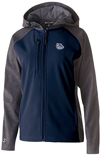 Ouray Sportswear NCAA Gonzaga Bulldogs Women's Raider Soft Shell Jacket, Large, Carbon Print/Navy ()