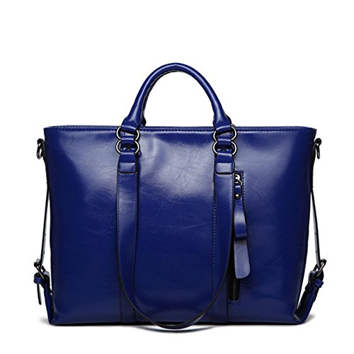 Eysee - Cartera de mano para mujer Marrón naranja 36cm*26cm*15cm azul zafiro