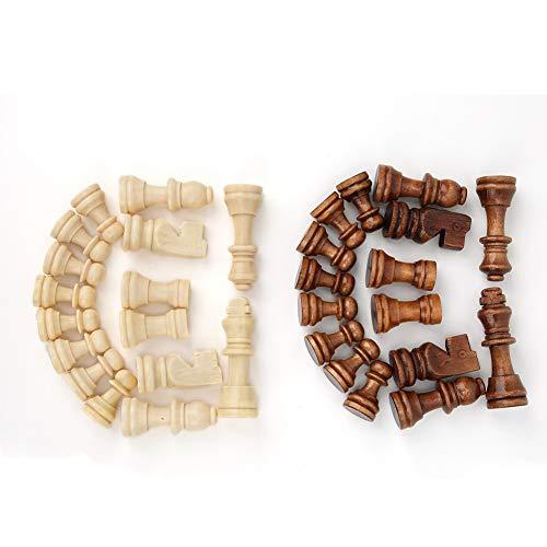 Bicaquu Regalo de Juego Intelectual de Juguete Casual de ajedrez de Madera para niños y Adultos