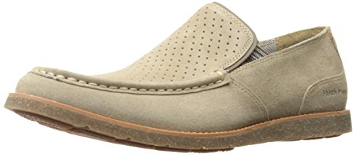 (Hush Puppies Men's Lorens Jester Slip-On Loafer, Taupe Suede, 10.5 M US)