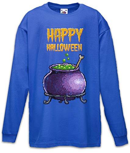 Pixel Happy Halloween Kids Boys Girls Long Sleeve T-Shirt Blue]()