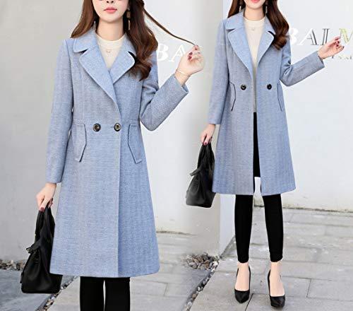 e blu una invernale lungo cotone signore caldo Ab Cappotto di di autunno inverno donna jeans lana autunnale donne inverno sottile tqfnIUaw