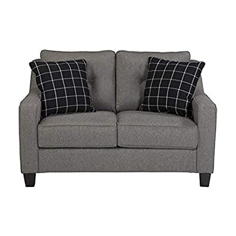 Benchcraft - Brindon Contemporary Upholstered Loveseat - Charcoal