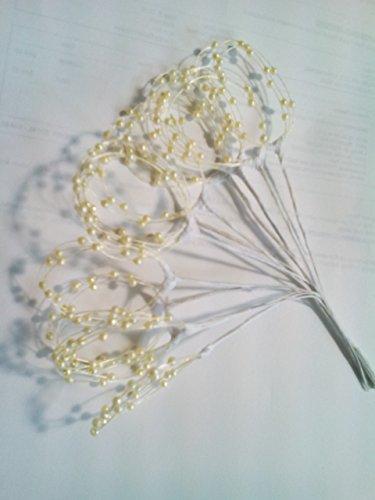 Pearl Spray Mm 3 (Darice Big Value Pearl Loops Spray, 3mm, Ivory, Pack of 36 stems)