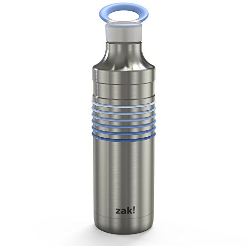 Zak Designs 0052-S860-AMZ HydraTrak Insulated Water Bottles, 22oz, Periwinkle SS