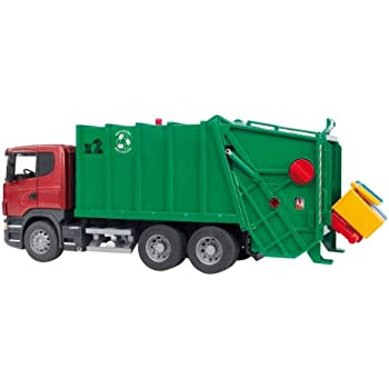 Amazon Com Bruder Scania R Series Garbage Truck Red