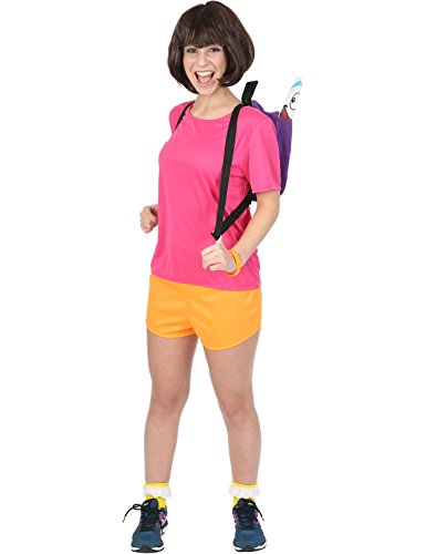 Ladies Hispanic Spanish Mexican Explorer TV Outfit Halloween Costume Small