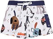 Nonwe Boy's Swim Shorts Quick Dry Soft Drawsting Printed Cargo Pocket Pool Swim Tr