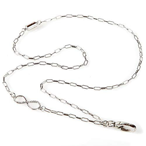 Infinity Lanyard - A Fashion ID Badge Chain Necklace for Women with Breakaway Safety -