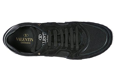 camoscio NY0S0A40LRQ 39 Valentino EU Nuove Nero Sneakers Hive Scarpe Uomo qqRfHct4