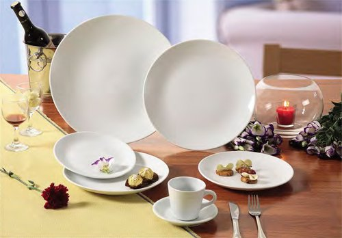 CAC China COP-16 Coupe 10-Inch Super White Porcelain Plate, Box of 12 by CAC China (Image #4)