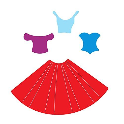 Die Folder (Metal Cutting Dies,Hongxin Bowknot Dress Set Cut Knife Mold Art Cutter Scrapbook DIY Album Card Punch Emboss Stencils Embossing Folder Die Cutter Home Decoration Valentine's Gift)