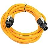 Seismic Audio - TW12S10Orange - 12 Gauge 10 Foot Orange Speakon to Speakon Professional Speaker Cable - 12AWG 2 Conductor Speaker Cable