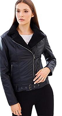 Bomber Jacket for Women - Aviator Regular & Plus - Black Vegan Leather