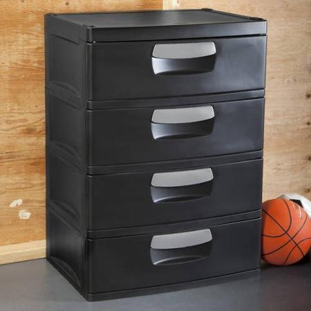 Sterilite 4-drawer Cabinet Use in Garage, Utility Room, Dorm Room or Child's Room, Pack of 2