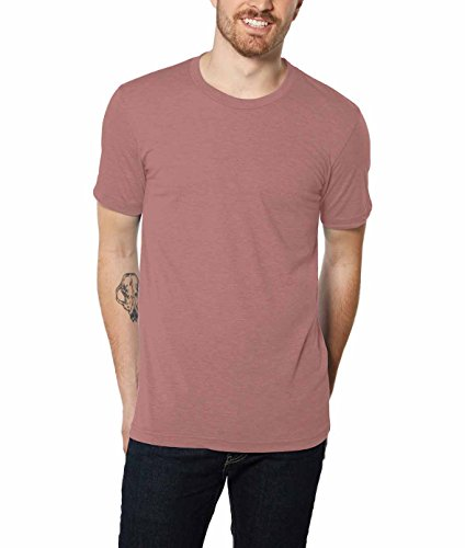 Apparel Mauve (Nayked Apparel Men's Weightless Crew T-Shirt, Mauve Triblend, Large)