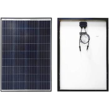 Texas Solar 100 Watt Polycrystalline 100W 12V Poly Solar Panel Module RV Marine Boat Yacht Off GridWaterproof Hail-Proof