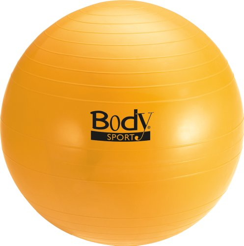 Body Sport Anti-Burst Fitness Ball, 65cm, Yellow
