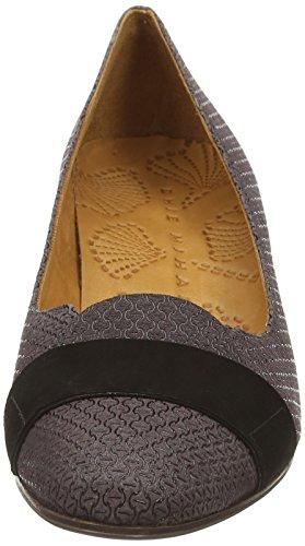 asfalto Grau Mihara zapatos Chie cerrados manaus mujer de ante loos de piel negro tacón gris vFd7wqExd
