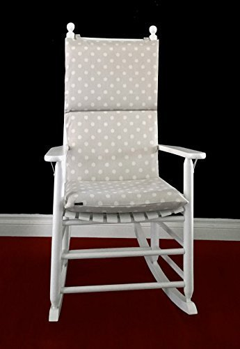 Rocking Chair Cushion   Grapevine French Ikat Dots Dossett