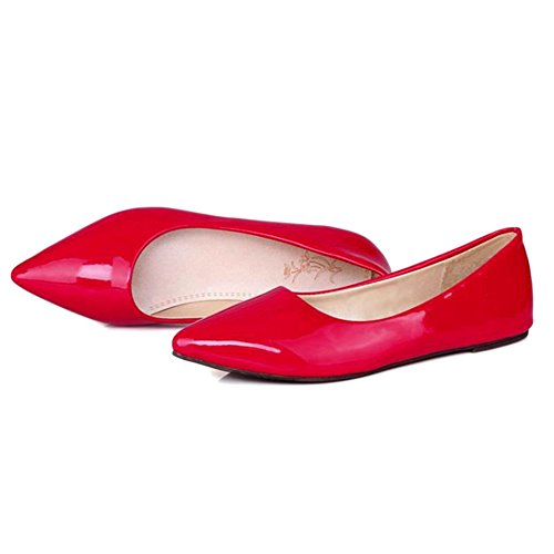 Mujer Sandalias de con Material Onewus Cuña Sintético Rojo wYZpzzqvFx