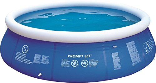 By PoolCentral 12' Blue and White Inflatable Above Ground Prompt Set Swimming -