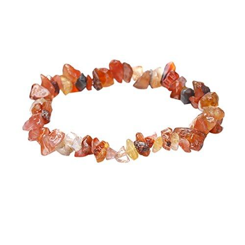 - Celendi_Jewelry Handmade Natural Crystal Stone Bracelet Bracelet Healing Reiki for Girls (B)