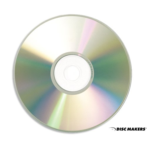 High Fidelity Blank CDs - Disc Makers Ultra 52x 700 MB/80 Min Silver Inkjet CD-Rs - 100 Disc Pack by Disc Makers