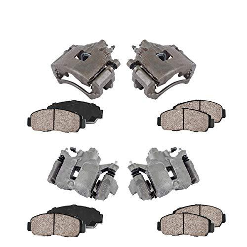 FRONT + REAR [ 4 ] Premium Grade Semi-Loaded OE Caliper + Ceramic Brake Pads Kit - Door Monte Front Carlo Chevrolet