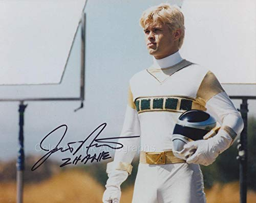 JUSTIN NIMMO as Zhane/The Silver Space Ranger - Power Rangers In Space GENUINE AUTOGRAPH