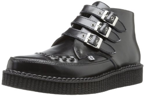 TUK Pointed Creeper, Sneaker unisex adulto Nero (Noir (Black Leather/Black Interlace))