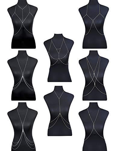 FIBO STEEL Body Chain Jewelry for Women Girls Bikini Belly Chain Necklace