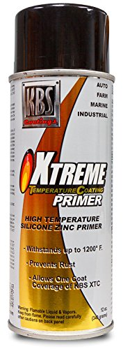 (KBS Coatings 65100 Gray Xtreme Temperature Coating Zinc Silicon Primer, 12 oz (Aerosol))