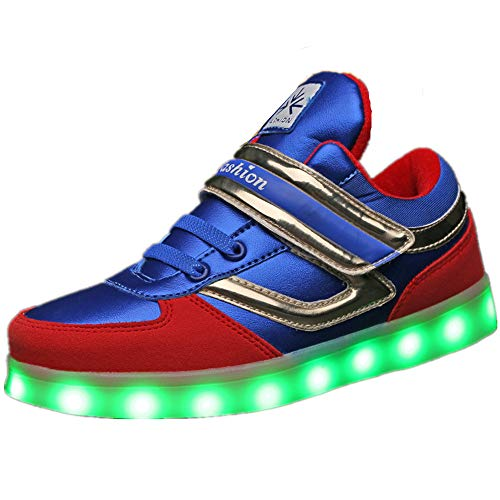 Sunny Day Boys and Girls LED Light up Shoes USB Rechargeable Flashing Fashion Sneaker