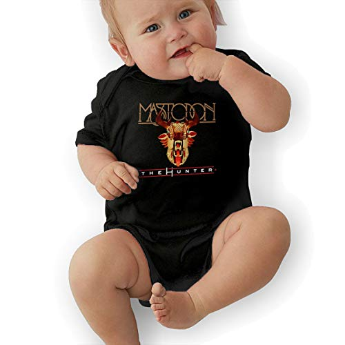 LuckyTagy Mastodon The Hunter Unisex Particular Boys & Girls Romper Baby BoyVest 43 Black ()