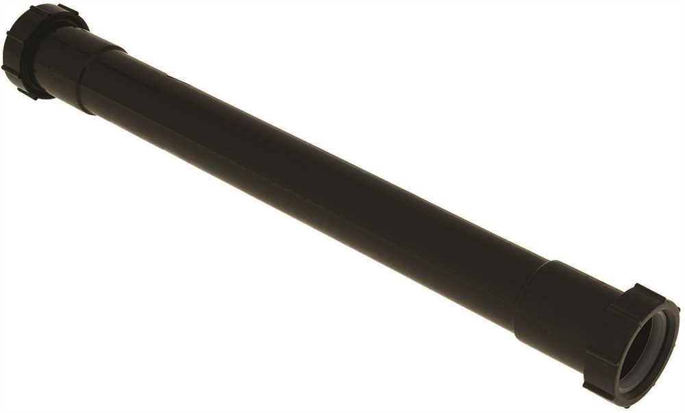 DURAPRO 89316 Double-Ended Slip Joint Abs Extension Tube, 1-1/2 x 16 In. -