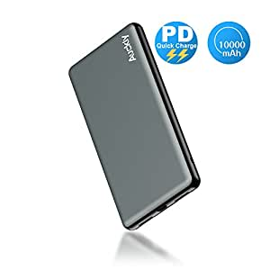 Portable External Charger,PD Power Bank Auckly10000mAh USB Type C Mobile Power Bank,4-Port Battery With High-Speed Charging,Phone Charger Power Pack for iPhone X,iPhone 8,Samsung Galaxy S8/Note 8