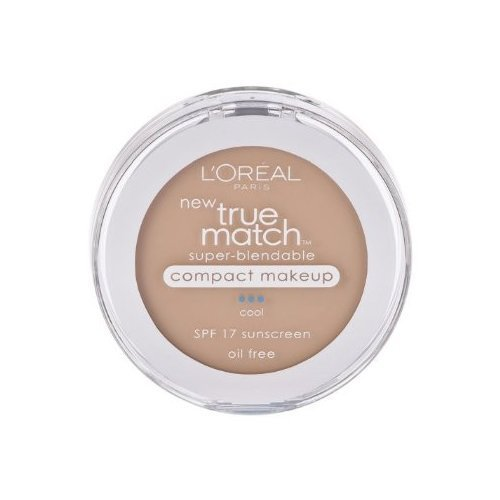 L'Oreal Paris True Match Super-Blendable Compact Makeup, SPF#17, Creamy Natural, 0.30 oz. (2-pack)